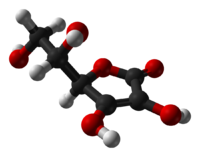 Ascorbic acid ball figure